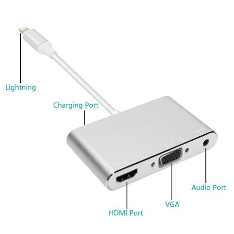 Lightning To Hdmi Vga Audio Konverter Iphone To Hdmi Vga Converter adapter converter lightning to hdmi vga with audio port