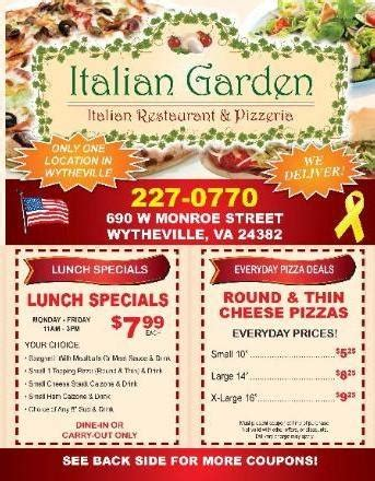 Italian Garden Menu by Italian Garden Menu Indd 2 Pdf