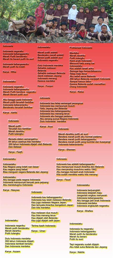 membuat puisi kemerdekaan agustus 2009 sekolah alam nurul islam