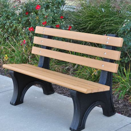 park bench legs recycled plastic park benches outdoor benches of