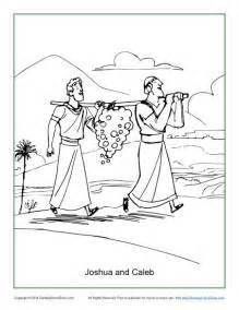 Joshua And Caleb Coloring Pages joshua and caleb coloring page children s bible activities sunday school activities for