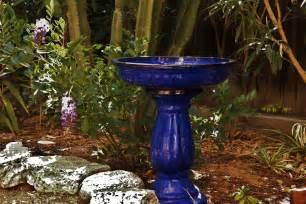 cobalt blue ceramic bird bath birdcage design ideas