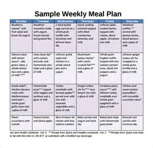 meal plan template word sle weekly meal plan template 9 free documents in