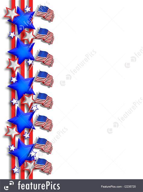 patriotic border july  illustration