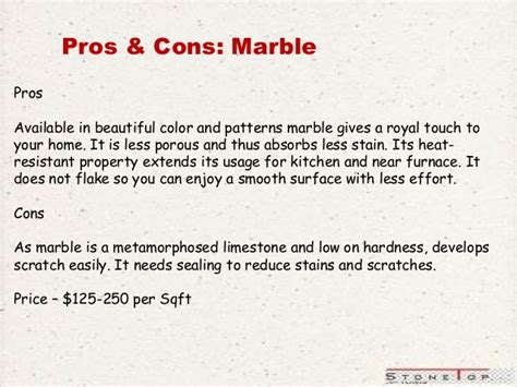 marble pros best way to choose natural stones countertops pros cons