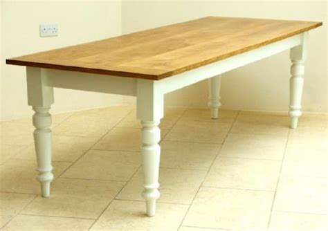 Traditional Kitchen Tables - beautiful large 10 seat victorian solid oak and pitch pine painted farmhouse dining table c1890