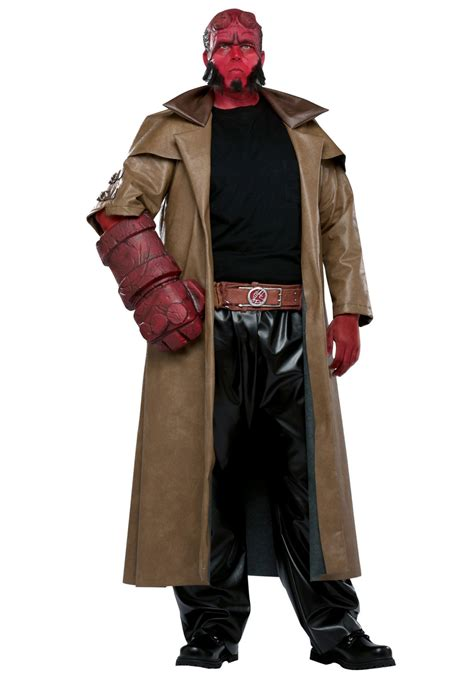in costume plus size hellboy costume