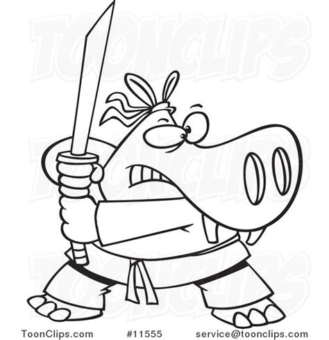 ninja outline coloring page cartoon hippo ninja black and white outline 11555 by ron