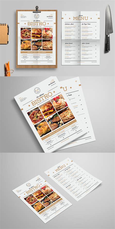 Minimal Food Menu Template Ai Psd By Designelements On Deviantart Minimal Menu Template