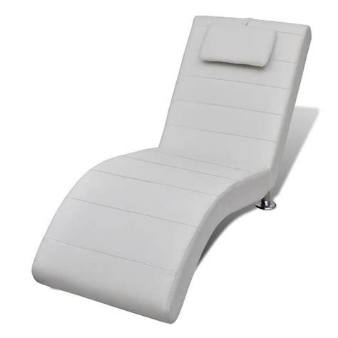 poltrone sceslong chaise longue cuir blanc avec appui t 234 te
