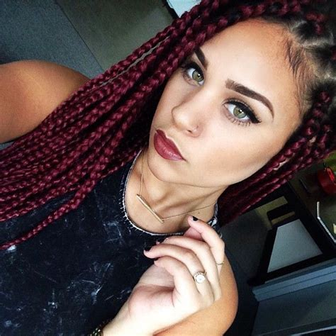 red weave color in poet justice braids 25 best ideas about red braids on pinterest box braids