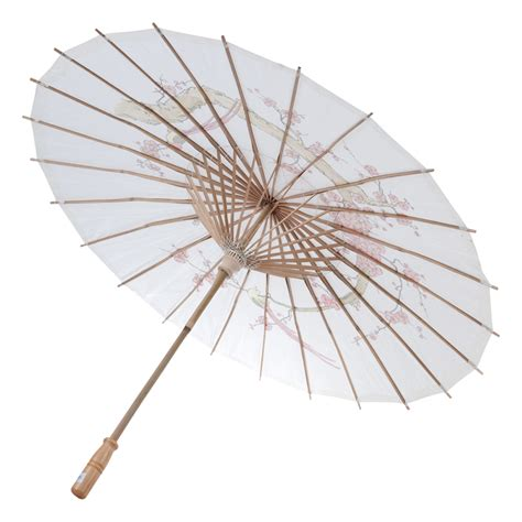 Paper Umbrella - 32 quot white cherry paper parasol umbrellas on sale now