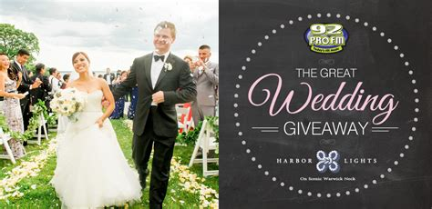 Station Great Giveaway - win great wedding giveaway wpro fm