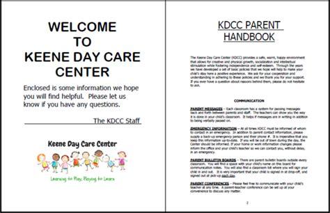Parent Handbook Child Care Parent Handbook Template