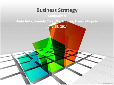 Corporate Strategy Mba Program by Mba 671 Business Strategy Game Company A Team Presentation