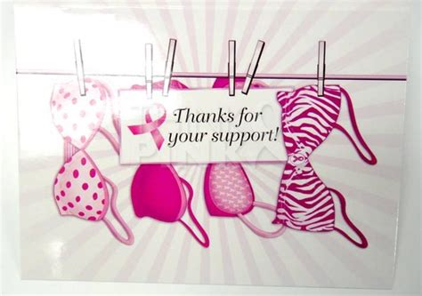 pink ribbon thank you card template breast cancer thank you cards thank you cards think