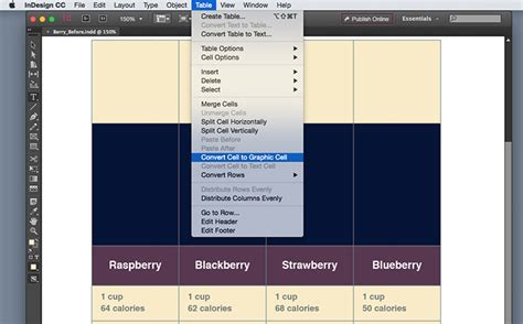 How To Insert Table In Indesign by Insert Images In A Table Cell In Indesign Adobe Indesign