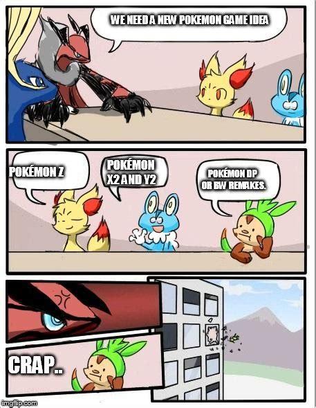 Pokemon Game Memes - pokemon board meeting imgflip