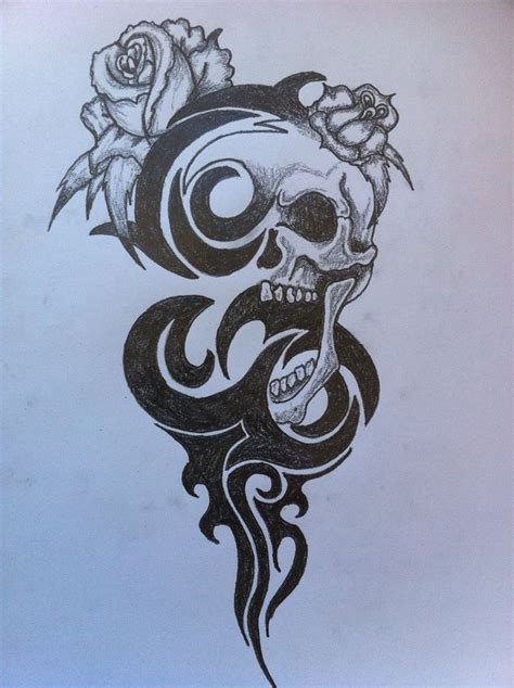 skull tribal tattoos tribal and skulls tribal skull by inkmanik skulls n