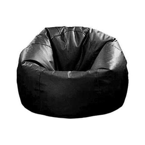 large leather bean bag chair large beanbag chair black brown leather
