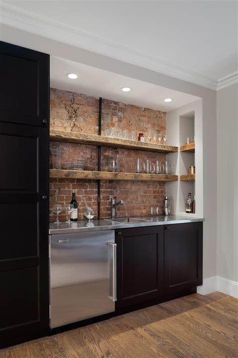 Home Interior Figurines elegant rustic shelves vogue new york traditional home bar