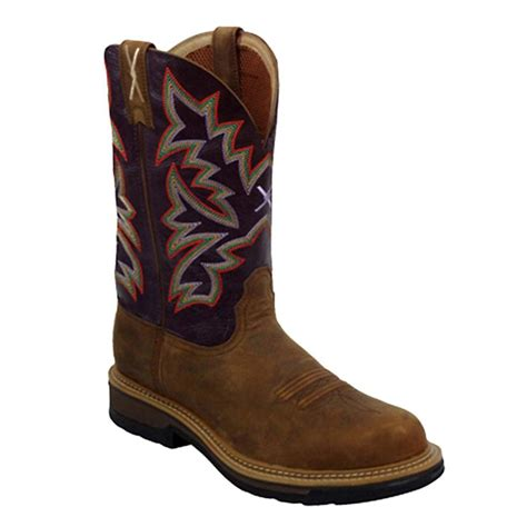 twisted x mens boots lite weight steel toe cowboy work boot