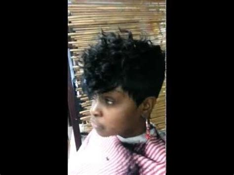 quick weave short cut short cut quick weave curly top youtube hair tutorials