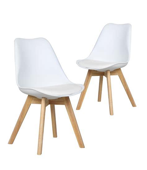 chaises design scandinave chaises malm 214 lot de 2 chaises design scandinave blanc