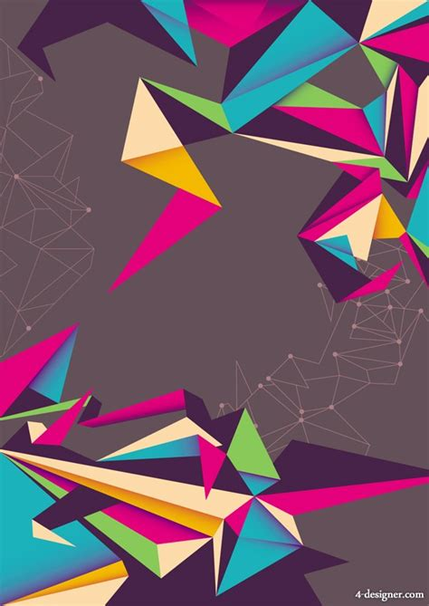 colorful designer 4 designer colorful origami background vector material