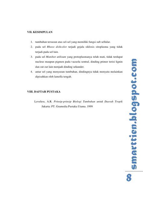 Contoh Laporan Jaringan Tumbuhan | contoh laporan