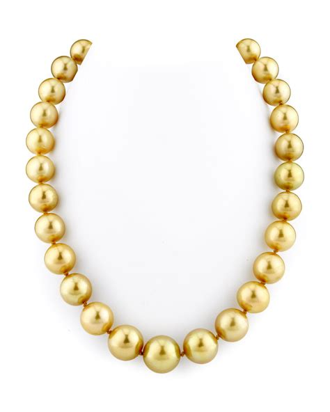 12 14mm golden south sea pearl necklace
