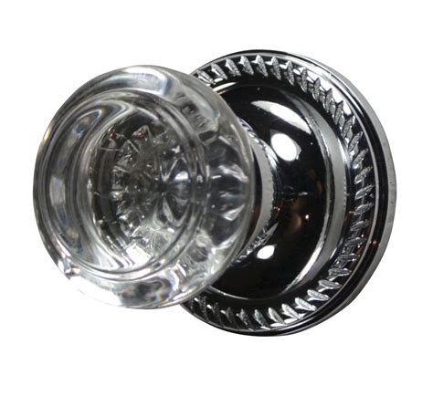 Chrome Door Knobs Door Knob Georgian Roped Plate