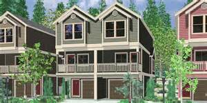 townhouse plans narrow lot hillside home plans with basement sloping lot house plans
