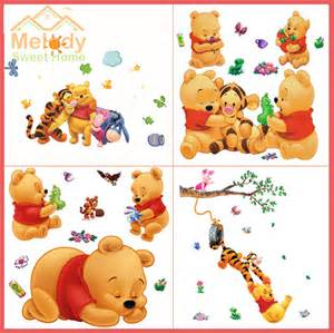 Baby Winnie The Pooh Wall Stickers buy winnie the pooh 2015 cartoon baby wall decals nursery wall sticker