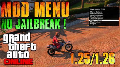 x mod game sans jailbreak mod menu sans jailbreak sur gta online 1 26 youtube