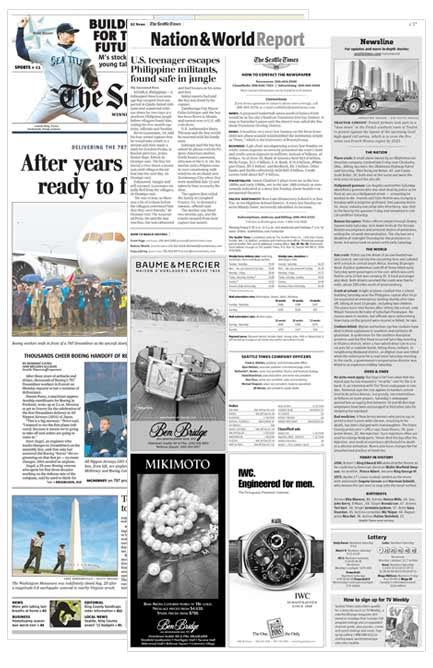 seattle times business section print the seattle times media kit advertise with us