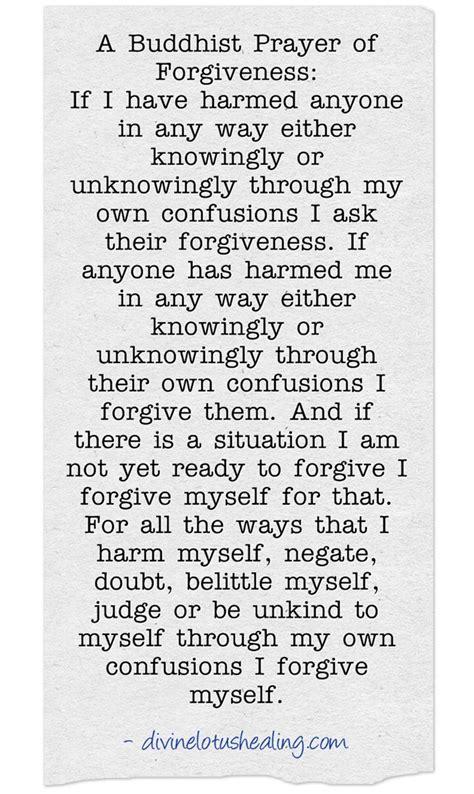 buddhist forgiveness prayer divine lotus healing