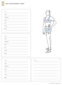 Measurements Template by Measurement Chart Fitness Tracker