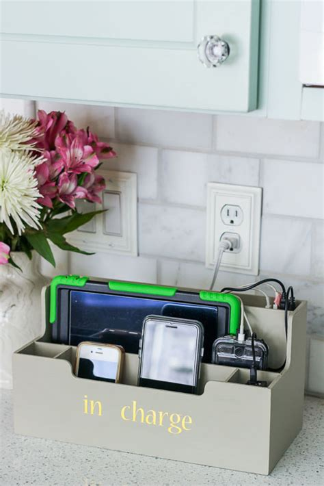 desktop charging station organizers you ll love wayfair how to turn a desk organizer into a charging station