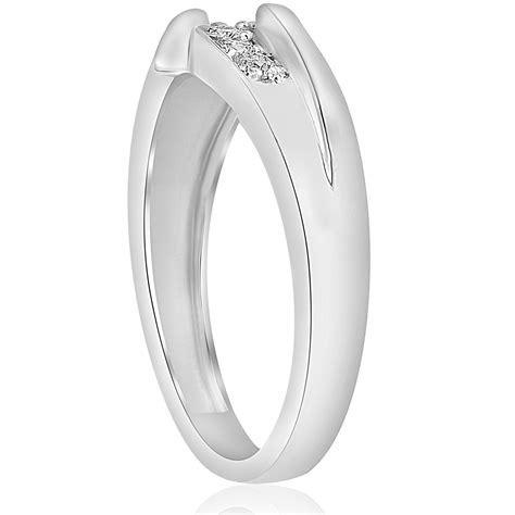 mens 1 1 2ct diamond solitaire belcher polished wedding