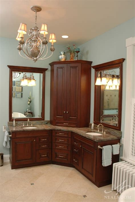 Corner Cabinet Bathroom Vanity Best 25 Corner Bathroom Vanity Ideas On Pinterest His And Hers Hair Corner Vanity And