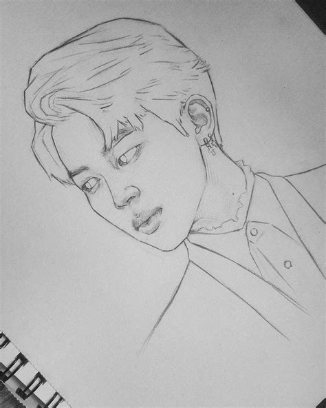 V Drawing Bts Easy by Bts Jungkook Drawing Easy Clipartxtras