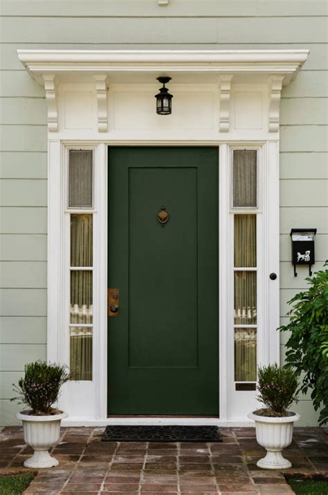 Green Exterior Door Green Front Doors On