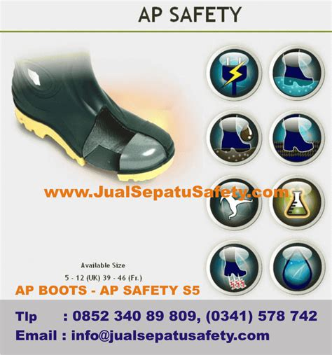 Ap Boot Safety S5 Sepatu Safety Keamanan Kerja Proyek jual ap safety s5 warna kuning sepatu boots sni terbaik jualsepatusafety