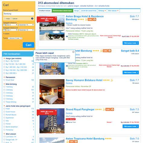 Booking.com Hotel Murah di Bandung langkah 1   Travels Promo