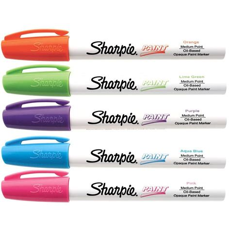 home depot paint markers sharpie fashion colors medium point based paint marker
