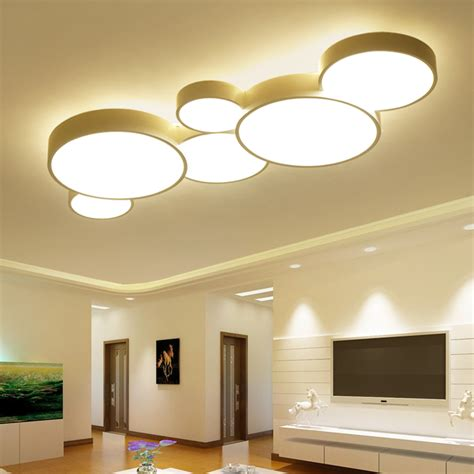 Modern Ceiling Lights For Bedroom Aliexpress Buy 2017 Led Ceiling Lights For Home Dimming Living Room Bedroom Light Fixtures