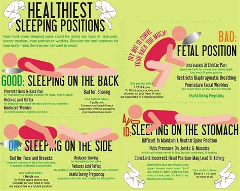 what is the best position to sleep infographic healthiest sleeping