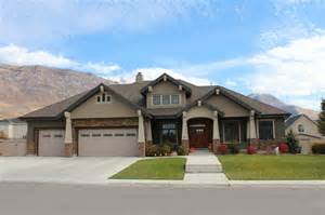 custom home designs front elevation craftsman exterior salt lake city
