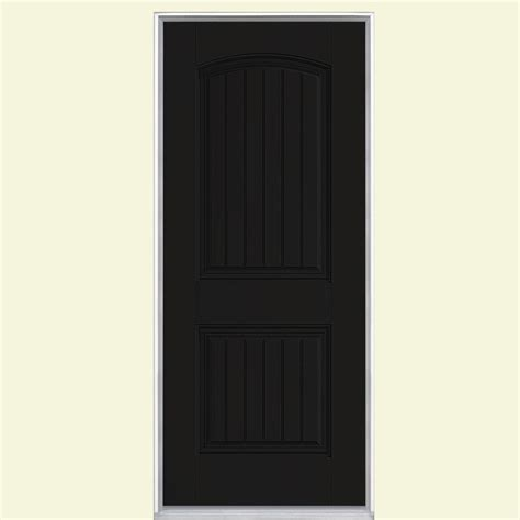Masonite 32 In X 80 In Cheyenne 2 Panel Painted Smooth Prehung Fiberglass Exterior Doors